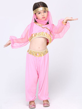 Anime Costumes AF-S2-615629 Halloween Pink Belly Dance Costume for Kid