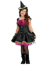 Anime Costumes AF-S2-615643 Halloween Black Witch Costume for Kid