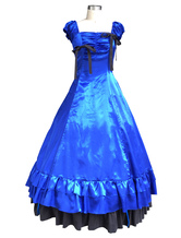 Anime Costumes AF-S2-615811 Blue Classic Vintage Lolita Dress Halloween Cosplay Costume