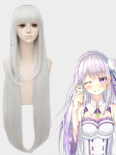 Re Zero Starting Life in Another World Emilia Halloween  Cosplay Wig