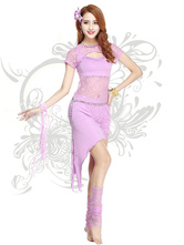 Anime Costumes AF-S2-618097 Belly Dance Costumes Women's Keyhole Lace Sexy Dance Dress Sets