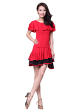 Anime Costumes AF-S2-618123 Ruffles Dance Dress Women's Elastic Asymmetric Short Dance Costume Dress