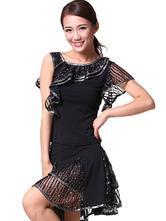 Anime Costumes AF-S2-618103 Ruffles Dance Dress Women's Sequin Dance Costume Dress