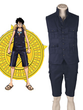 Anime Costumes AF-S2-619387 One Piece 2017 Film Gold Monkey D Luffy Summer Anime Cosplay Costume