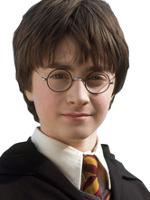 Anime Costumes AF-S2-620467 Harry Potter Harry James Potter Black Round Frame Fim Cosplay Accessories