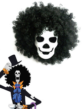 Anime Costumes AF-S2-620457 One Piece Dead Bones Brook Mask And Black Wig Anime Cosplay Accessories