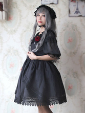 Gothic Lolita Dress Lace Big Bow Lolita Dress Milanoo Lolita Jumper Skirt With Lace Trim