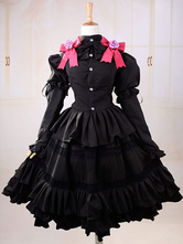 Anime Costumes AF-S2-621525 Date A Live Tokisaki Kurumi Halloween Cosplay Costume Gothic Lolita Dress