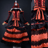 Anime Costumes AF-S2-621541 Date A Live Tokisaki Kurumi Cosplay Costume Gothic Lolita Dress