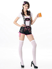 Anime Costumes AF-S2-622823 Sexy Beer Girl Costume Black Plaid Women's Beer Girl Dress