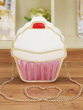Cute Lolita Bag Pink Mini Ice-cream Lolita Frame Chain Bag