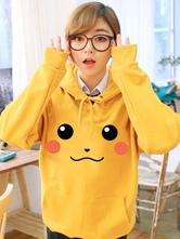 Anime Costumes AF-S2-624509 Pokemon Go Pokemonster Pikachu Cute Hoodie Cosplay Costume