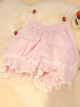 Sweet Lolita Bloomers Cute Cotton Lace Lolita Pumpkin Bloomers Short Pants