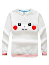 Anime Costumes AF-S2-624511 Pokemon Go Pokemonster Pikachu White Hoodie Cosplay Costume