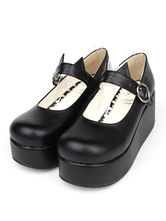 Gothic Lolita Shoes Black Platform Mary Jane Lolita Shoes With Cat Ear