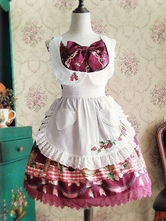 Sweet Lolita Accessories Lace Ruffle Embroidered Strawberry Lolita Apron With Pockets