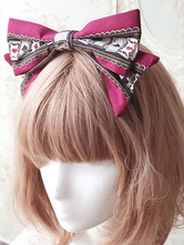 Gothic Lolita Headband Poker Printed Alice Lolita Hair Bow