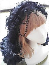 Gothic Lolita Accessories Black Double-layer Tull Ruffles Elegant Gothic Lolita Veil