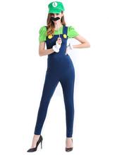Anime Costumes AF-S2-626333 Super Mario Bros Female Luigi Deluxe Costume