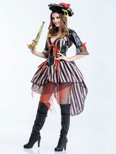 Anime Costumes AF-S2-626321 Women's Sexy Pirate Costume Holloween Lace Chiffon Dress Costume
