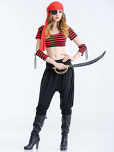 Anime Costumes AF-S2-626305 Halloween Sexy Costumes Pirate Women's Outfit With Red Headgear