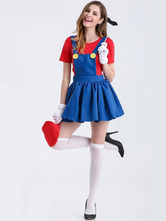 Anime Costumes AF-S2-626339 Women's Mario Skirt Costume