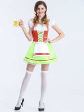 Anime Costumes AF-S2-626297 Halloween Sexy Costumes Beer Girl Women's Green Skater Dress