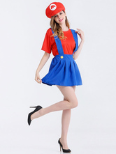 Anime Costumes AF-S2-626343 Women's Super Mario Bros Costumes Sets