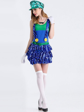 Anime Costumes AF-S2-626337 Super Mario Bros Costume For Woman Girl Holloween Costume
