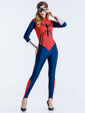 Anime Costumes AF-S2-626259 Halloween Costume Spiderman Women's Cosplay Jumpsuit With Armwear