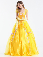 Anime Costumes AF-S2-626351 Yellow Scoop Princess Dress Cosplay Costume With Gloves