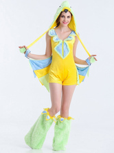 Anime Costumes AF-S2-626261 Halloween Costume Angry Birds Women's Jumpsuit With Hat