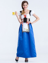Anime Costumes AF-S2-626291 Halloween Sexy Costumes Beer Girl Women's Blue Outfit