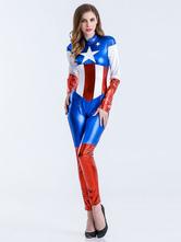 Anime Costumes AF-S2-626311 Halloween Adult Supergirl Jumpsuit Costume