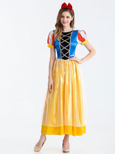 Anime Costumes AF-S2-626247 Halloween Costume Princess Women's Short Sleeve Long Dress With Headgear