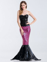 Anime Costumes AF-S2-626225 Halloween Costume Sexy Mermaid Women's Black Long Bodycon Dress