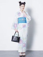 Anime Costumes AF-S2-627611 Halloween White Cotton Long Kimono Costumes For Women