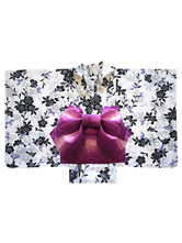 AF-S2-627591 Halloween Sexy Kimono Costumes With Floral Print Cotton Bow