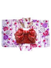 AF-S2-627605 Halloween Sexy Kimono Costumes With Floral Print