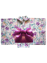 Anime Costumes AF-S2-627601 Halloween Costumes Sexy Japanese Kimono With Lilac Print For Women