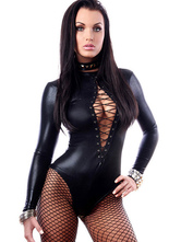 Anime Costumes AF-S2-627515 Halloween Sexy Costume Black Cut Out Bodysuit For Women