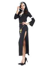Anime Costumes AF-S2-628881 Nun Costume Outfit Black Sexy Womne's Nun Halloween Costume