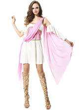 Anime Costumes AF-S2-629379 Women's Pink Greek Costumes Outfits Halloween Sexy Fantasy Costumes