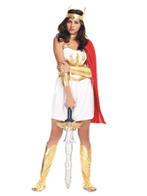 Anime Costumes AF-S2-629413 Halloween Mars Sexy Costume Greek Goddess Cosplay Costume Women's White Dress With Red Shawl