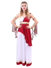Anime Costumes AF-S2-629375 Greek Goddess Fancy Dress Outfit Red Halloween Women's Costume