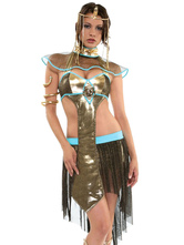 Anime Costumes AF-S2-629397 Halloween Costume Greek Gold Pleated Sexy Outfits For Women