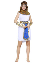 Anime Costumes AF-S2-629427 Halloween Egypt Queen Sexy Costume Women's White Dress Set Outfits