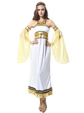 Anime Costumes AF-S2-629373 White Dress Costume Outfits Halloweeen Women's Off The Shoulder Dress Sets