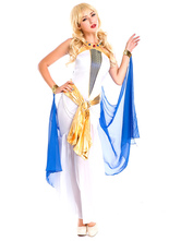 Anime Costumes AF-S2-629393 Halloween Costume Greek Goddess White Strapless Sash Slim Fit Outfits For Women