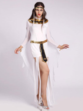 Anime Costumes AF-S2-629385 Halloween Costume Sexy Greek Long Sleeve Short White Dress With Shawl & Headgear